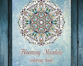 50 Coloring Pages Blooming Mandala Art Therapy Adult E Book Volume1
