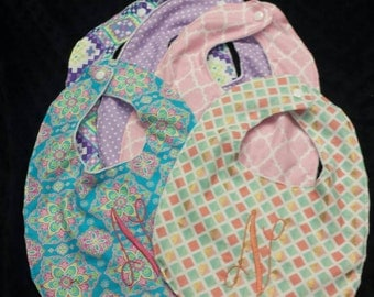 Baby bibs, girls bibs, baby clothing, monogrammed bibs, infant clothing, Baby accessories,