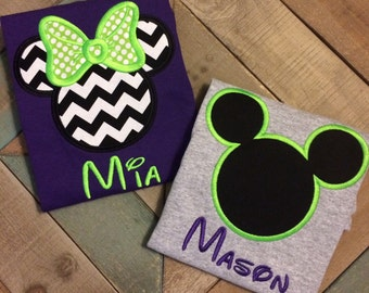 Mister and Miss Mouse Shirts in Adult and Kids Sizes-Not So Scary Halloween Party-Birthday-Family Shirts