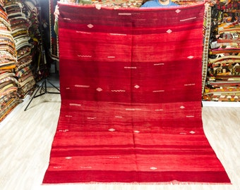 Turkish Kilim Rug 5.67 x 8.04 ft ( 173 x 245 cm)