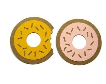 Paper Doughnut Cut Outs Set of 25