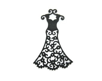 Filigree Dress Paper Cut Out set of 20