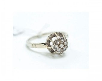 Ring old Mineralife gold grey and diamonds