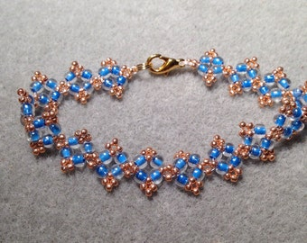 Karissa bracelet in Blue and Gold