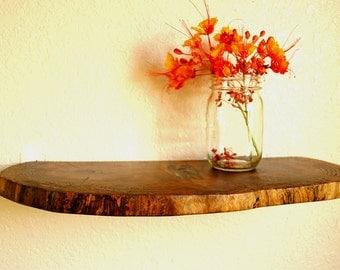 reclaimed walnut display shelf