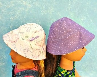 Reversible Sun Hat - 18 inch Doll Clothes