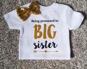 Being promoted to BIG sister! - big sister - black and gold - new baby