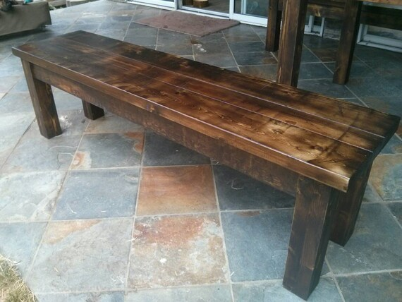 Distressed Foyer Bench : Items similar to rustic bench entryway kitchen