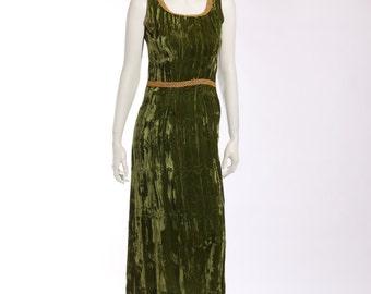 1960s Crushed Velvet Dress