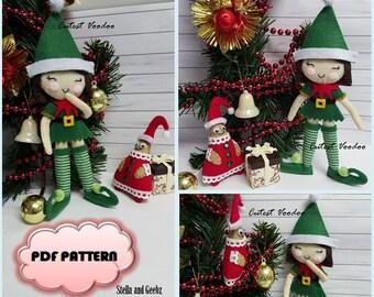 PDF Stella and Geebz Christmas Elves Felt Pattern