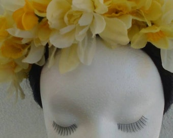 Flower crown,  wreath tiara yellow
