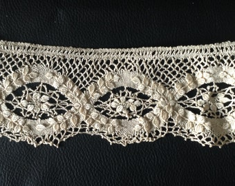 Antique French Lace Old Lace White Lace Embroidery Seam