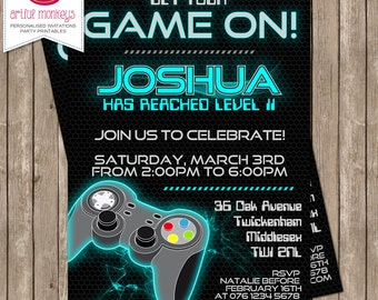 Video Game Party Invitation