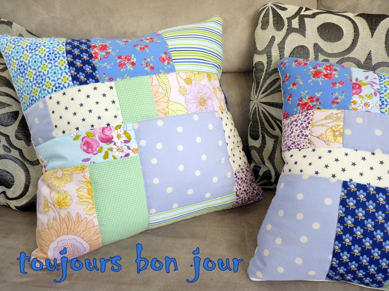 Cuscino patchwork in casa di campagna francese a mano in for Persiane di campagna francese