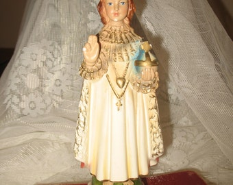 Chalkware jesus Prague.Religion plaster statue, figurine.