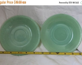 ON SALE - Limited Time Jadeite Jane Ray Fire King Saucers