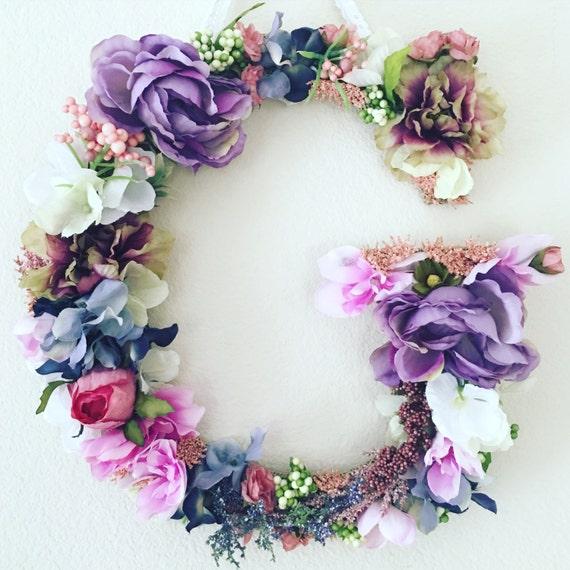Shop Floral Monograms At Littlebrownnest Etsy Com: Floral Monogram