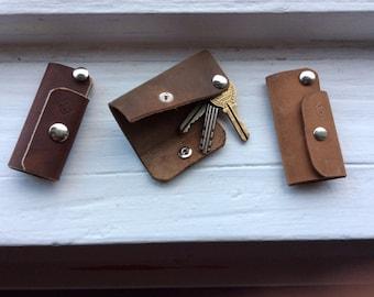 Key Case Leather Keychain