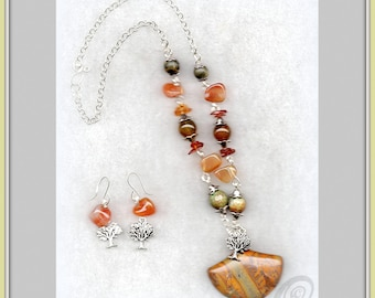 Autumn - Jewelry set - necklace + earrings - INTRODUCTORY OFFER!