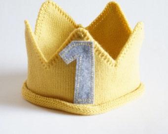 Custom Knit Birthday Crown, first birthday