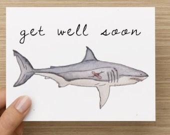 Get Well Shark Card