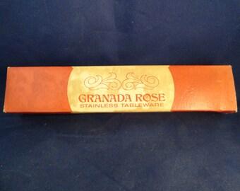 Granada Rose Stainless Tableware 3 Piece Serving Set In Orignal Box