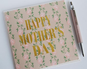 Floral Pearl Oyster Mother's Day Card