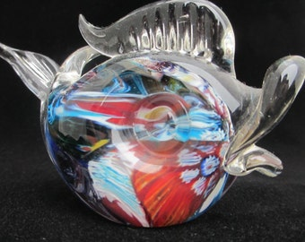 Art Glass Fish Paperweight Collectible