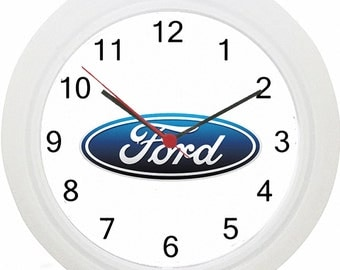 Ford Logo Car Wall Clock ! No Wiring ! Fast Delivery!
