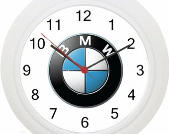 BMW Logo Car Wall Clock ! No Wiring ! Fast Delivery!