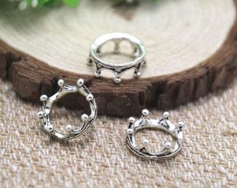 20pcs crown charms silver tone 3D CROWN charm pendants 16mm D1735