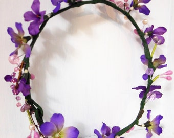 Xochi small flower crown for little girl - Toddler tiara natural beauty