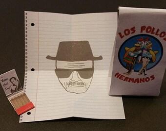 Breaking bad Heisenberg draw Saul Goodman matchbox los pollos paper bag 1:6 Custom Action figure