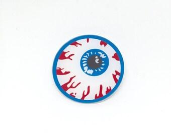 A Big Blood Eye Brooch Pin (W166)