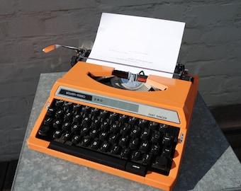 """Vintage 70' Seiko """"Silver Reed 280"""" Japan orange typewriter"""