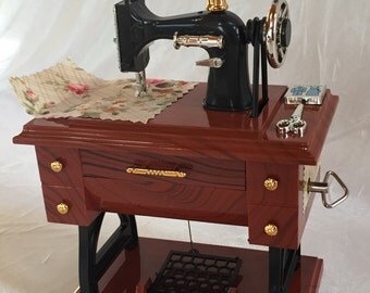 Miniature Sewing Machine Music Box