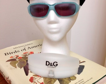 Vintage Dolce & Gabbana Turquoise Sunglasses with Crystal detail