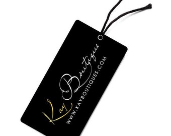 """500 2""""X6"""" Full Color Custom Hang Tags, Akuafoil with Full UV on Front Only, Full Color Hang Tags, Custom Hang Tags"""