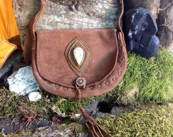 Fossil stone leather purse/handbag/shoulder bag