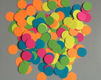 Neon Rainbow Confetti Mix | Rainbow Confetti Mix | Neon Rainbow Circle Confetti Mix | Rainbow Circle Confetti Mix