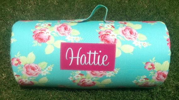 Personalized Preschool Mat New Fabric Lola Roses Nap Mat