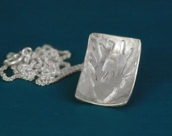 Sterling silver deer pendant necklace