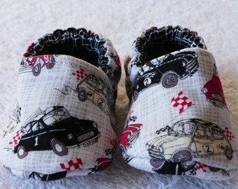 Boys Baby Pram Shoes With Little Cars
