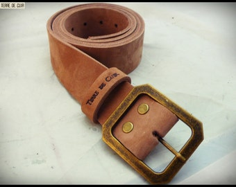 Belt - vegetable tanned leather croupon