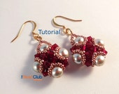 Beaded Earring Patterns - Beaded Earring Tutorial - Beading Patterns and Tutorials - Beadweaving Tutorials - Beadwork - PDF - Amira Earrings