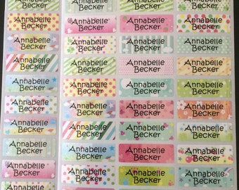 78 Personalize Waterproof Shimmer Craft Name Label Stickers