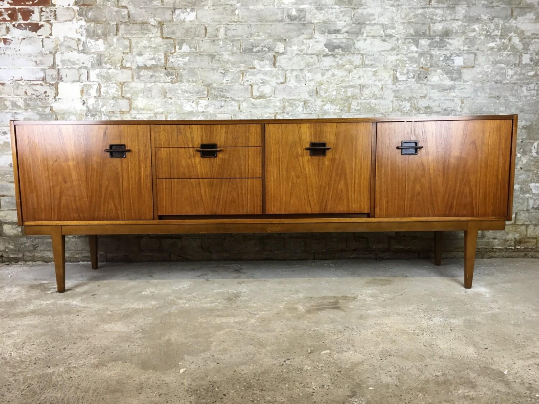 Retro original nathan long teak corinthian sideboard for G plan living room furniture