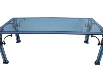 Vintage  Chrome  Maison Jasen - Style  Coffee Table.