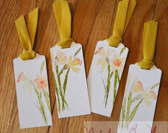 Watercolor Daffodil Bookmark (pack of 4)