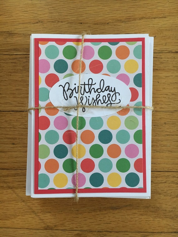 Items Similar To Set Of 10 Birthday Wishes Variety Pack Variety Happy Birthday Wishes